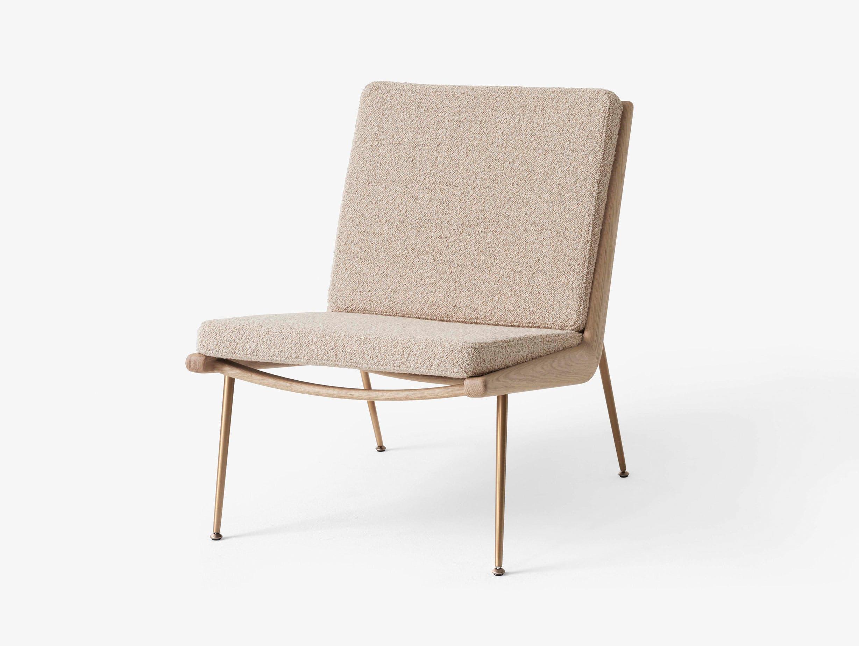 And Tradition Boomerang Lounge Chair without arms Oak Karakorum 003 Hvidt Molgaard