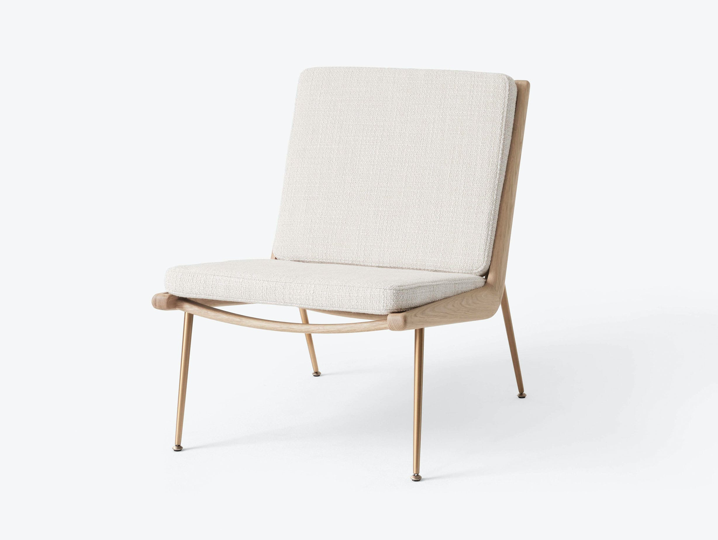 And Tradition Boomerang Lounge Chair without arms Oak Loop Cream Hvidt Molgaard