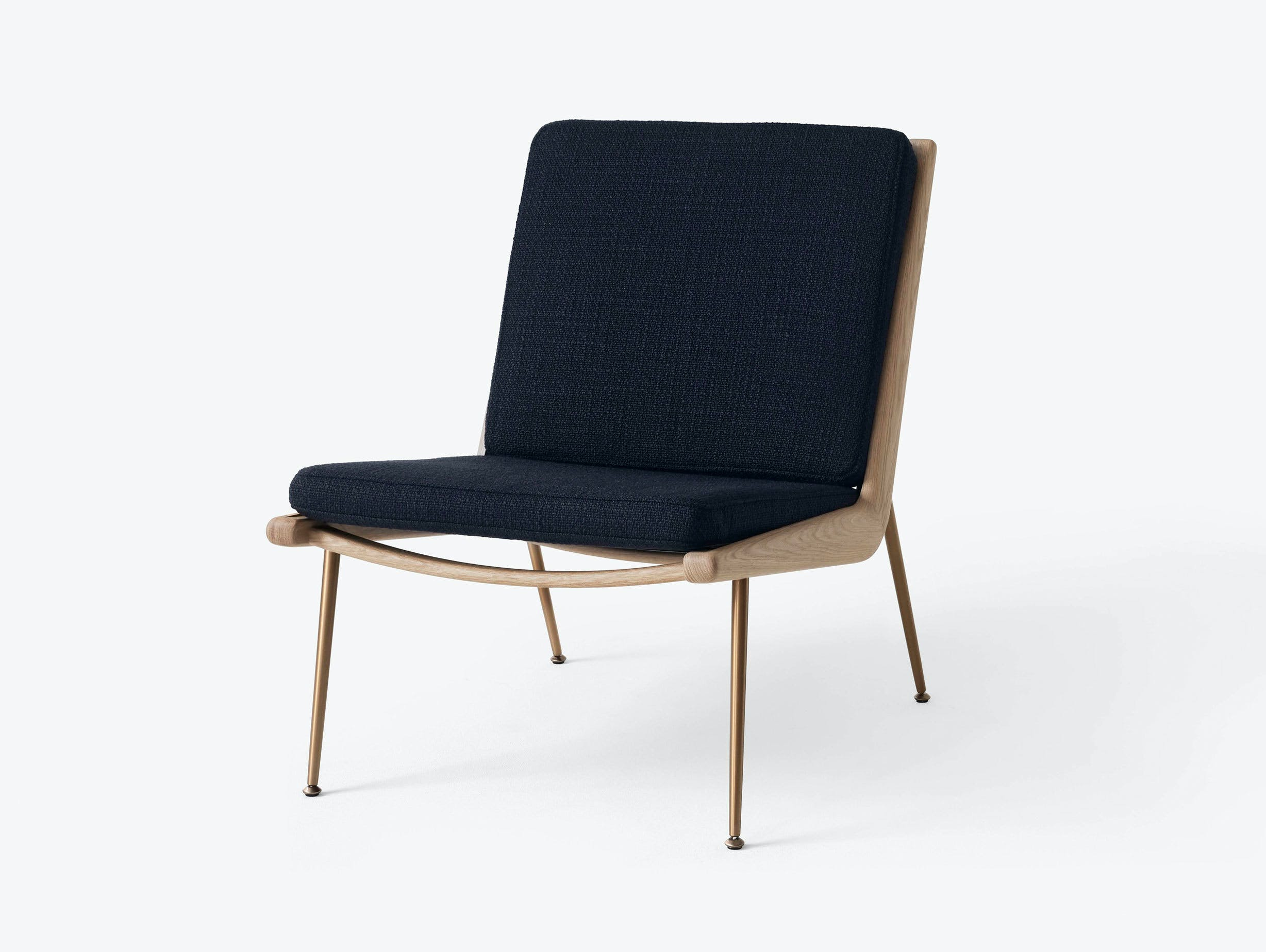 And Tradition Boomerang Lounge Chair without arms Oak Loop Marine Hvidt Molgaard