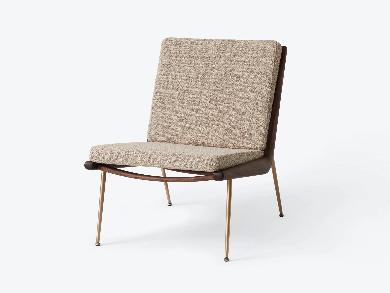 And Tradition Boomerang Lounge Chair without arms Walnut Karakorum 003 Hvidt Molgaard