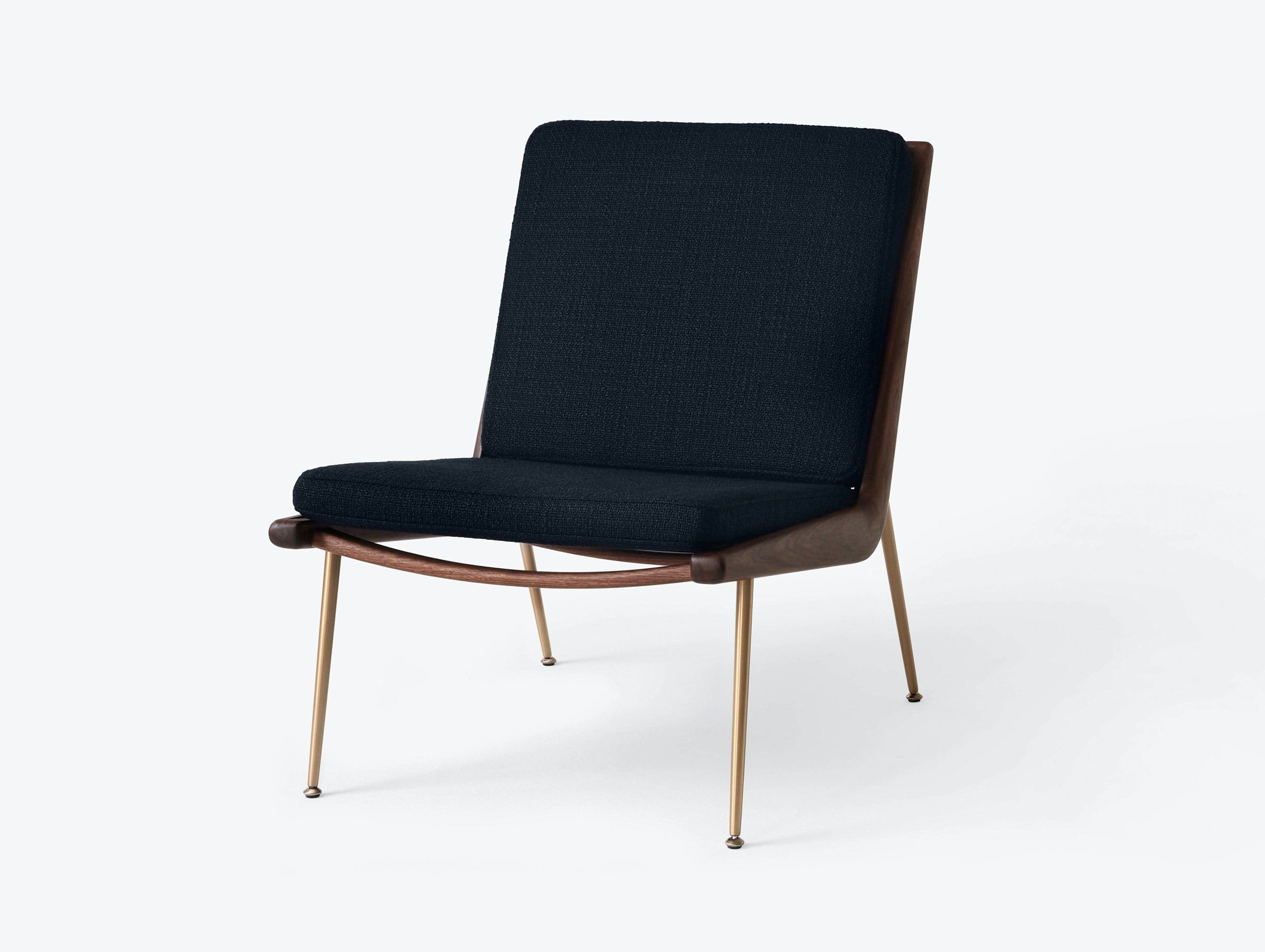 And Tradition Boomerang Lounge Chair without arms Walnut Loop Marine Hvidt Molgaard