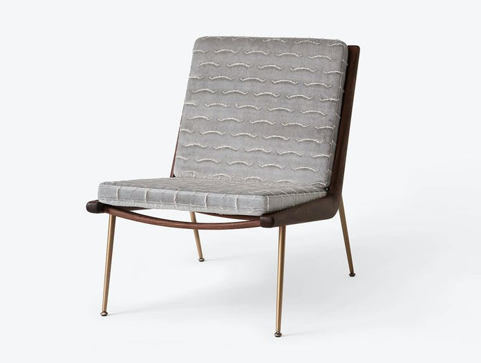 And Tradition Boomerang Lounge Chair without arms Walnut Nouvelles Vague Hvidt Molgaard