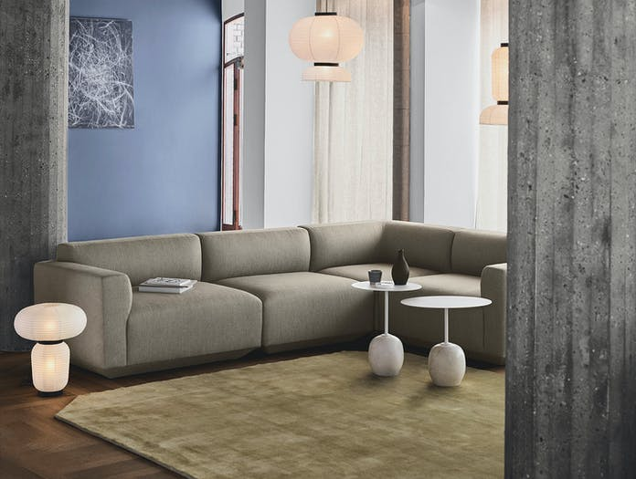 And Tradition Develius EV1 7 corner sofa Formakami JH18 JH4 JH3 JH5 Lato LN8 LN9 The Moor AP8 light