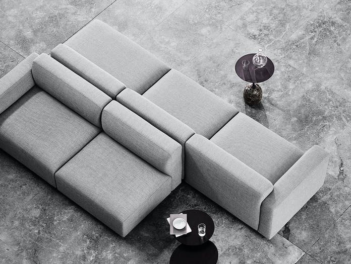 And Tradition Develius modular sofa detail