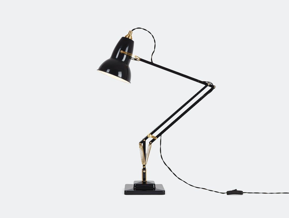 Anglepoise 1227 Brass Table Lamp Black George Carwardine