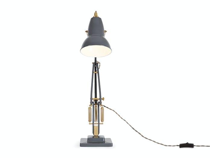 Anglepoise 1227 Brass Table Lamp F Elephant Grey George Carwardine