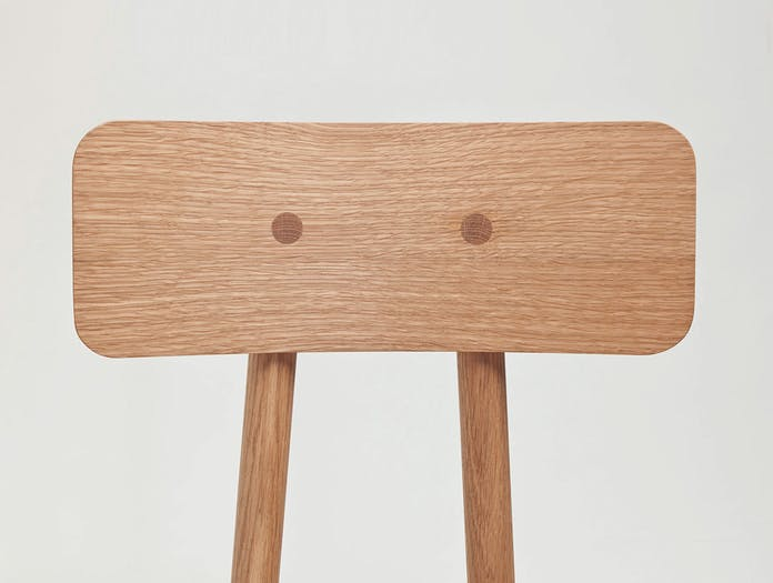 Another country another chair oak back detail mathias hahn