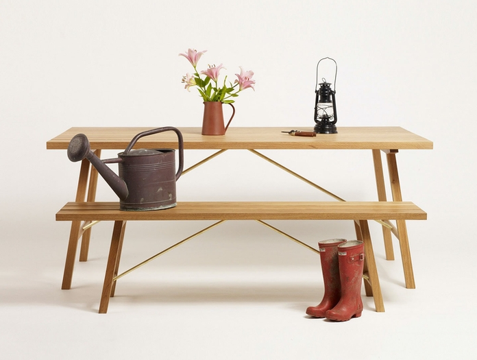 Another Country Outdoor Table Bench Two Studio