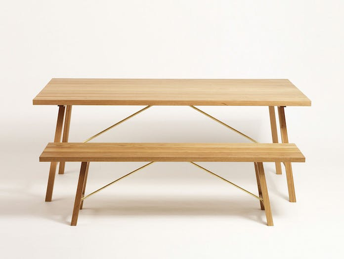 Another Country Outdoor Table Bench Two