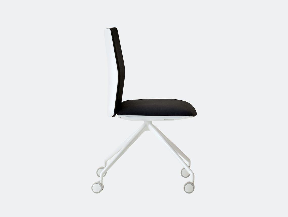 Kinesit Task Chair White Black Seat Lievore Altherr Molina