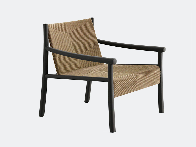 Arper kata lounge armchair black 3d knit wheat