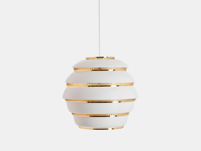 Artek A331 Beehive Pendant Light Brass Alvar Aalto