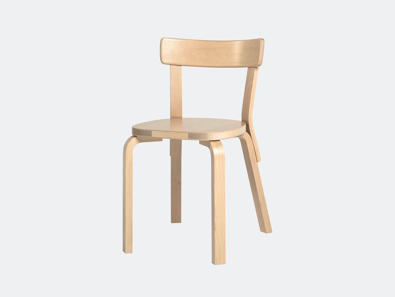 Artek Chair 69 Palmio Birch Alvar Aalto