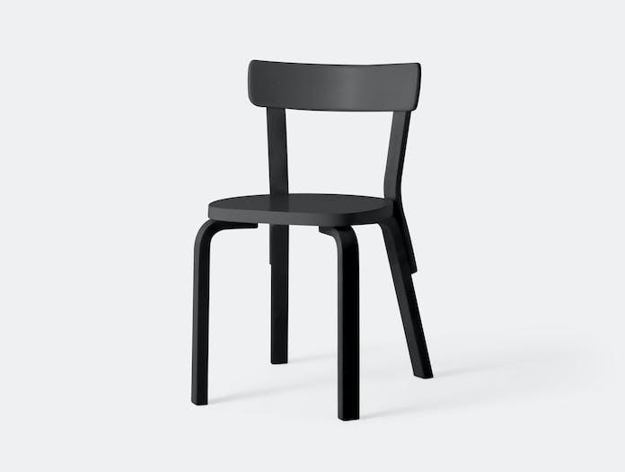 Artek Chair 69 Palmio Black Alvar Aalto