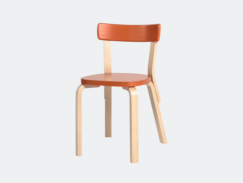 Artek Chair 69 Palmio Orange Alvar Aalto