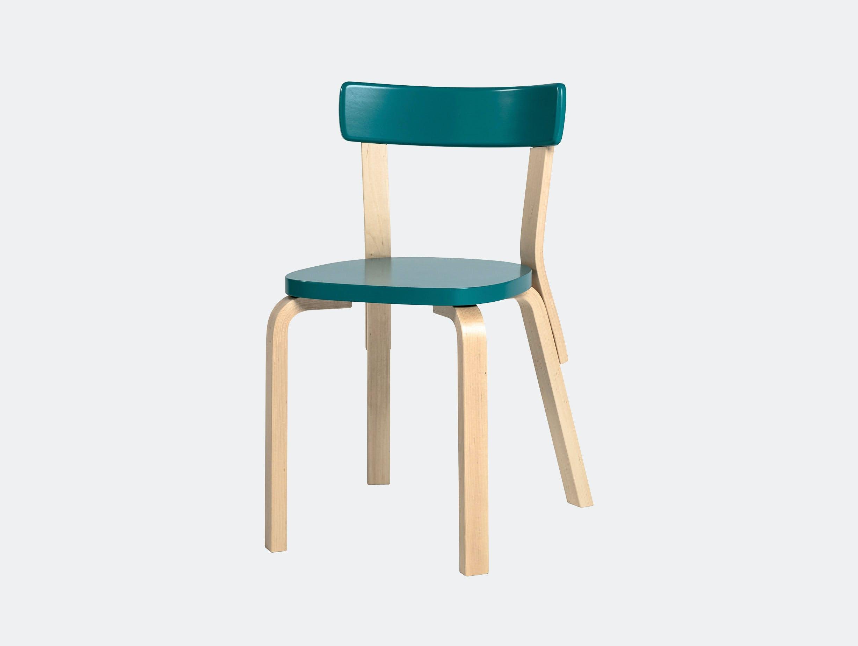 Artek Chair 69 Palmio Turquoise Alvar Aalto