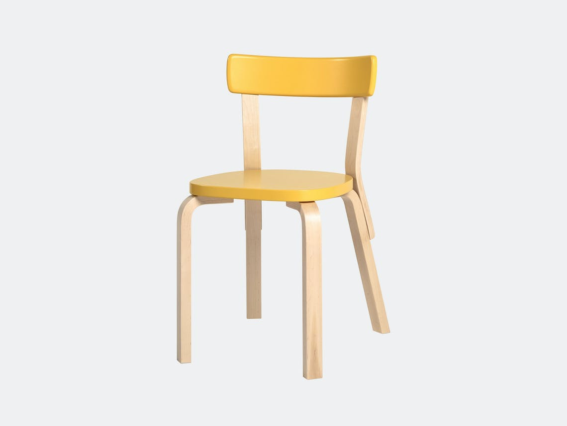 Artek Chair 69 Palmio Yellow Alvar Aalto