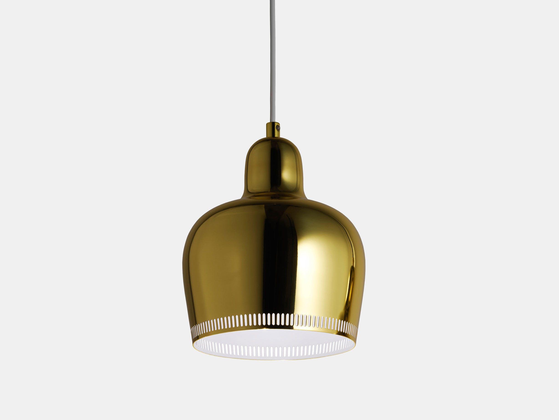 Artek Golden Bell Pendant Light A330 S Brass Alvar Aalto