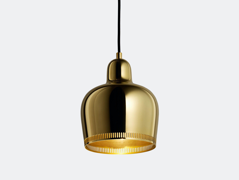 Artek Golden Bell Pendant Light A330 S Brass Savoy Edition Alvar Aalto
