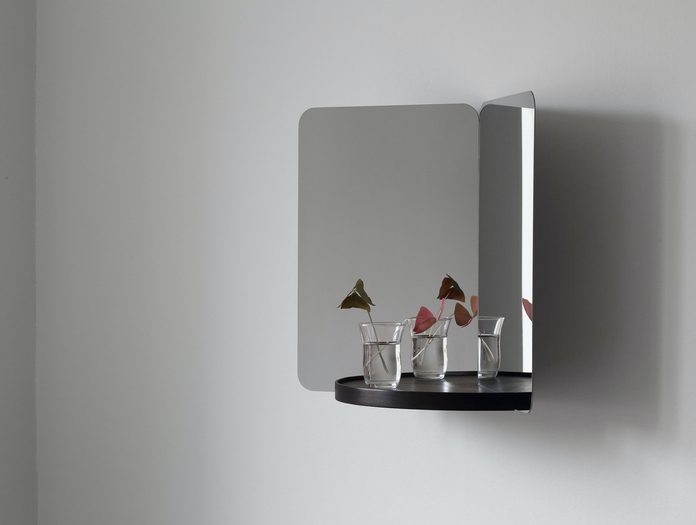 Artek 124 Degree Mirror Small With Tray Daniel Rybakken