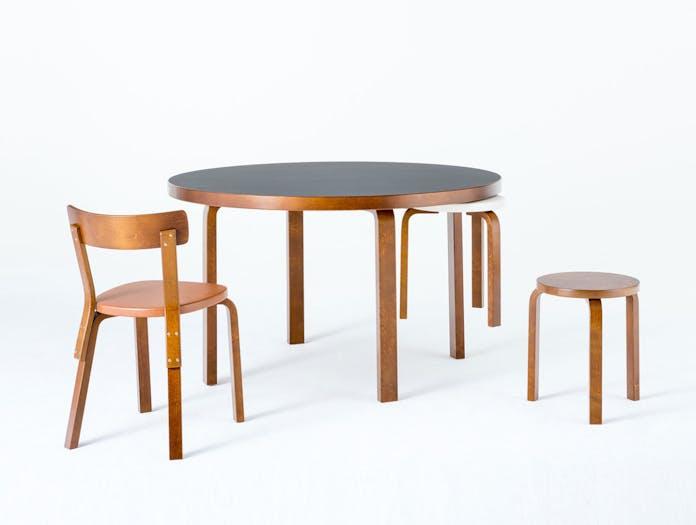 Artek Chair 69 Palmio Stool Table Alvar Aalto