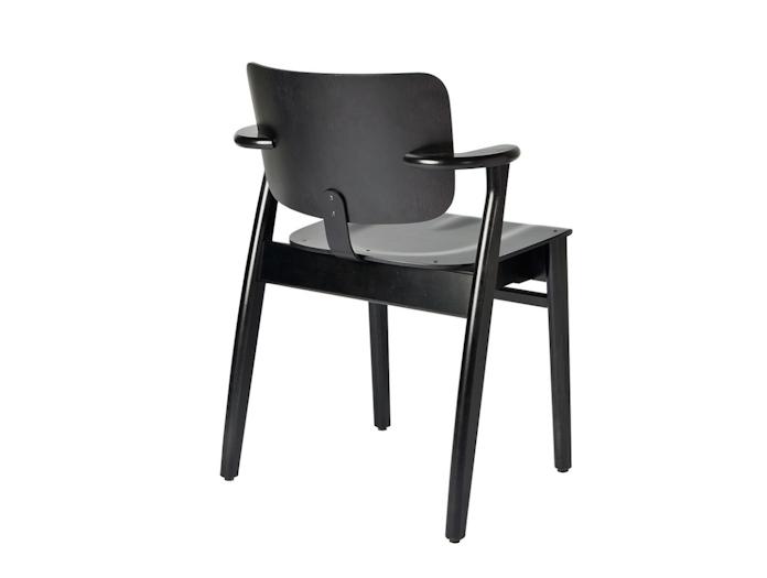 Artek Domus Chair Black Back Ilmari Tapiovaara