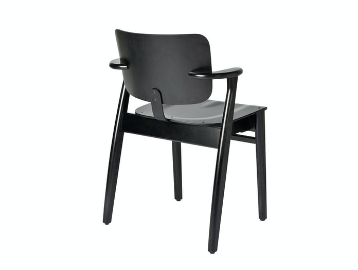 Artek Domus Chair Black Back Ilmari Tapiovaara