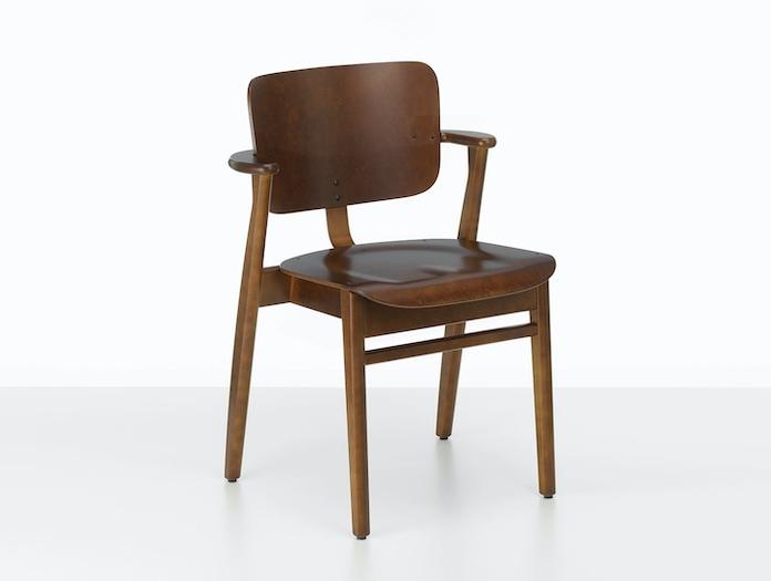 Artek Domus Chair Walnut Stained Ilmari Tapiovaara