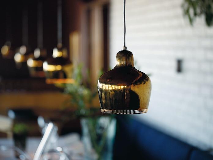 Artek Golden Bell Pendant Light A330 S Brass 3 Alvar Aalto