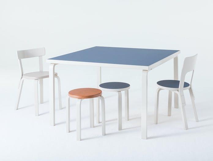 Artek Aalto Table Chairs Stools Stone White