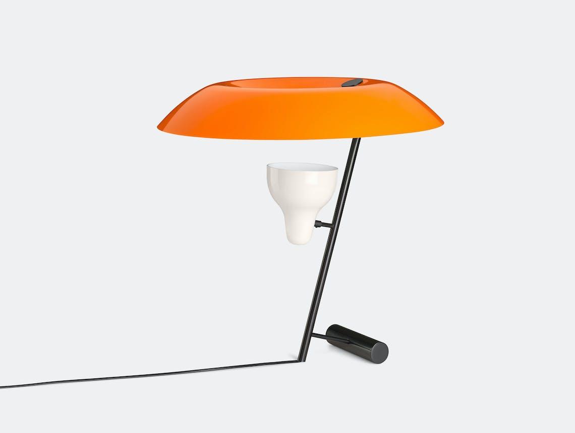 Astep Model 548 Table Light Orange Gino Sarfatti