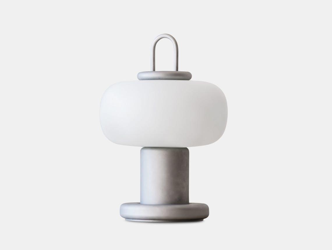 Astep Nox Table Light Grey Alfredo Haberli