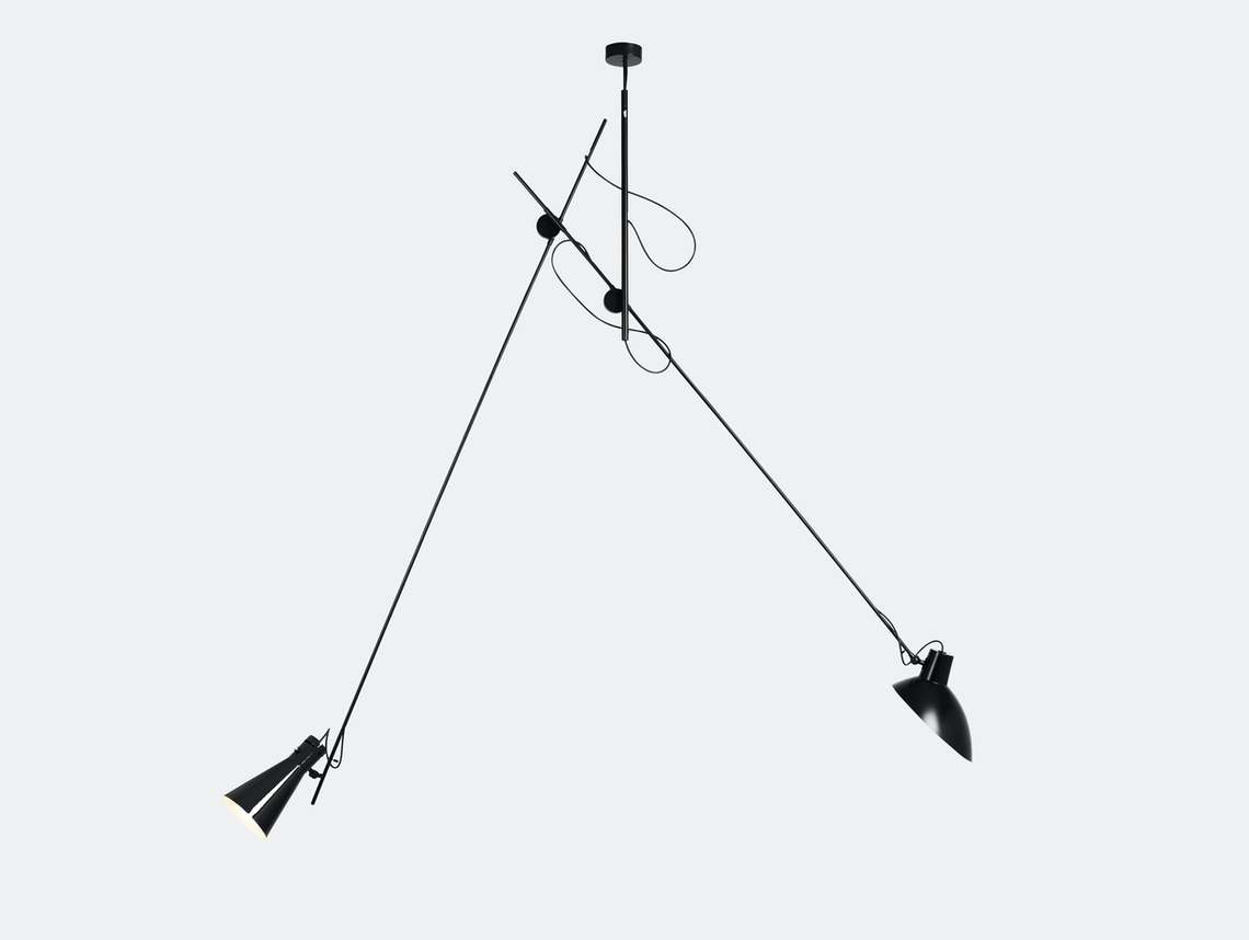 Astep Vv Cinquanta Suspension Light Black Vittoriano Vigano