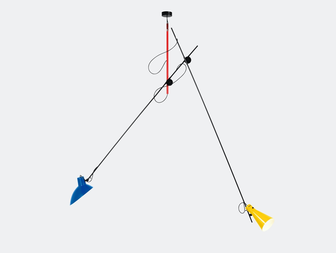 Astep Vv Cinquanta Suspension Light Red Blue Yellow Vittoriano Vigano