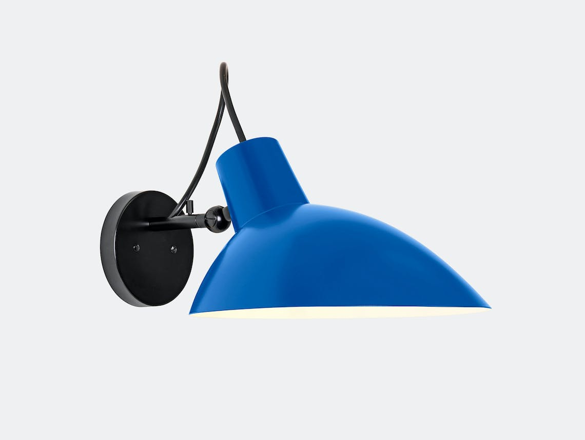 Astep Vv Cinquanta Wall Light Black Blue Vittoriano Vigano