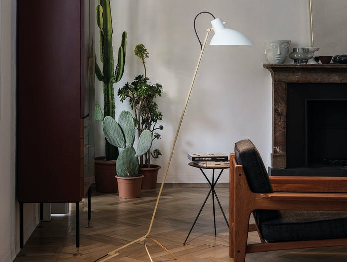 Astep Vv Cinquanta Floor Light Brass White