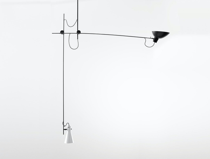 Astep Vv Cinquanta Suspension Light White Black Vittoriano Vigano