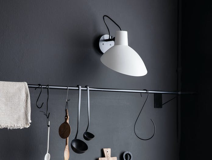 Astep Vv Cinquanta Wall Light Black White Kitchen Vittoriano Vigano