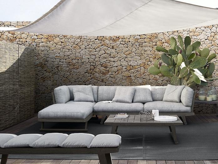 Bb Italia Gio Outdoor Sofa Grey Antonio Citterio