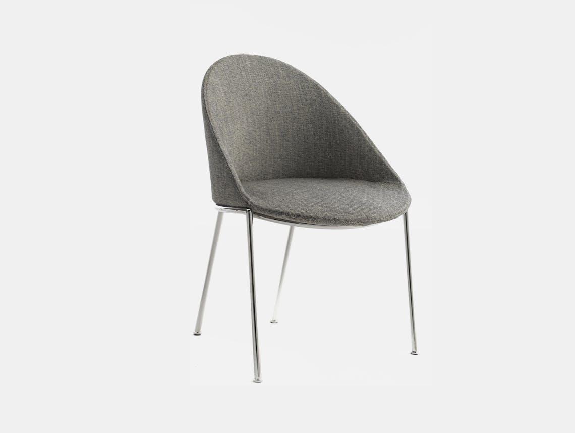 Bensen circa dining chair chrome 1