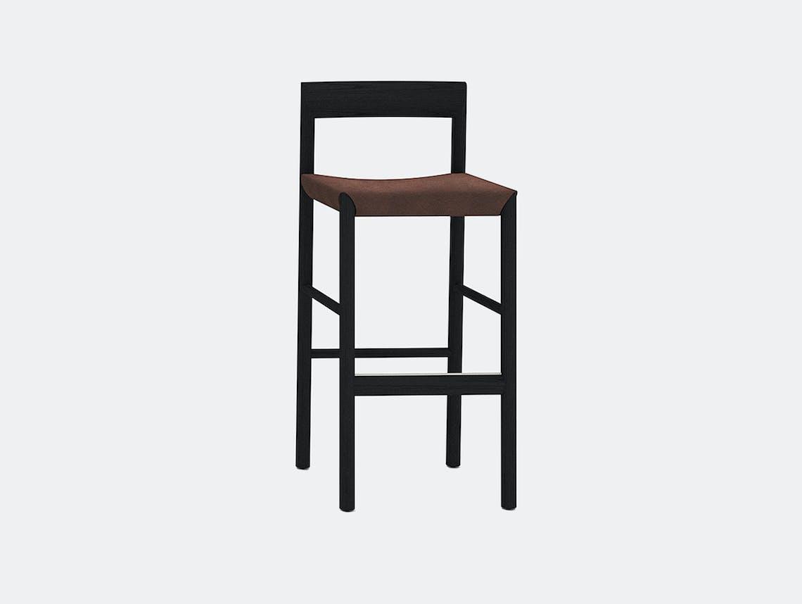 Bensen stax stool black ash toscano brown