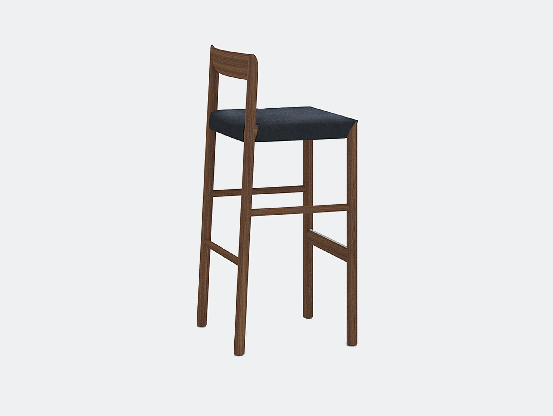 Bensen stax stool walnut stained toscano black