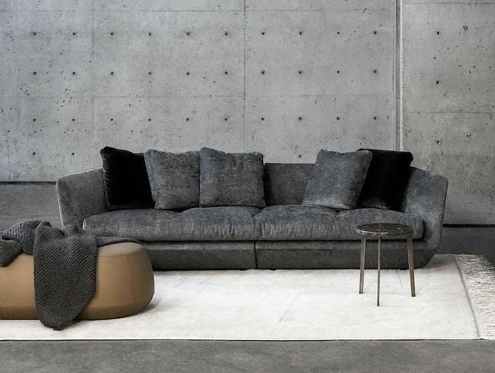 Bensen aura sofa ile pouf