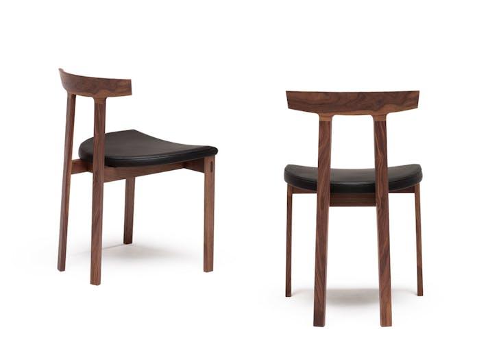 Bensen torii chairs walnut