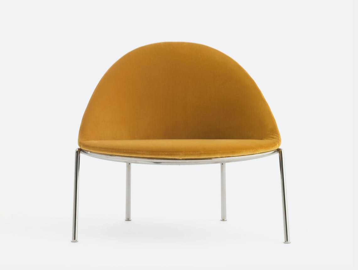 Bensen circa lounge chair chrome base