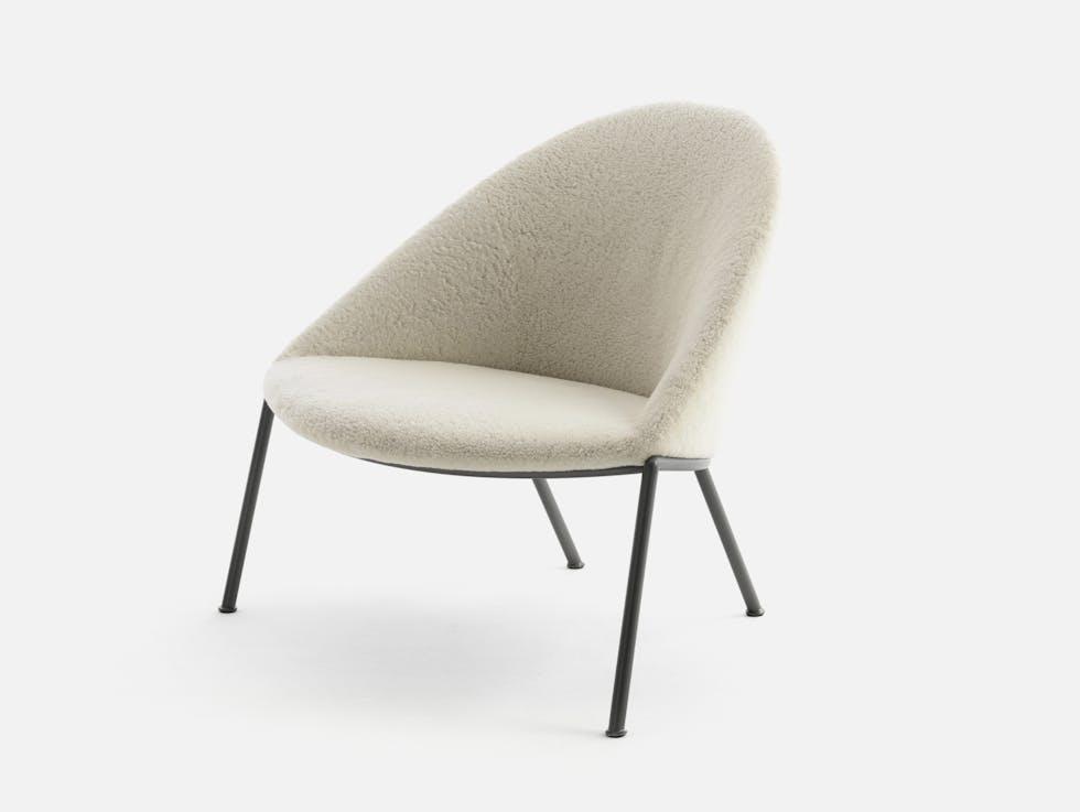 Circa Lounge Chair, Metal Base image