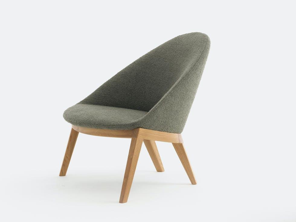 Circa Lounge Chair, Wood Base image