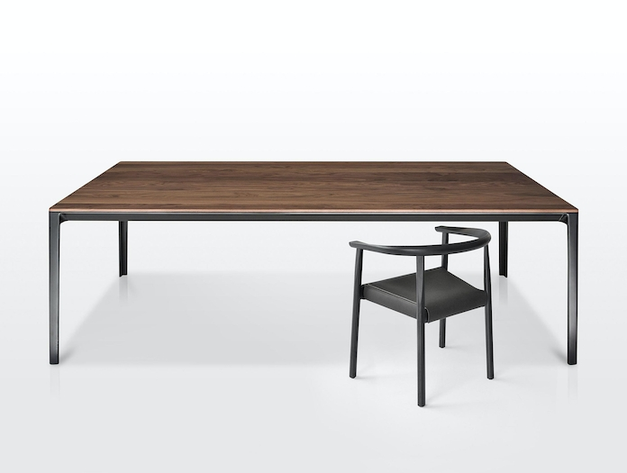 Bensen Able Walnut Table And Tokyo Chair