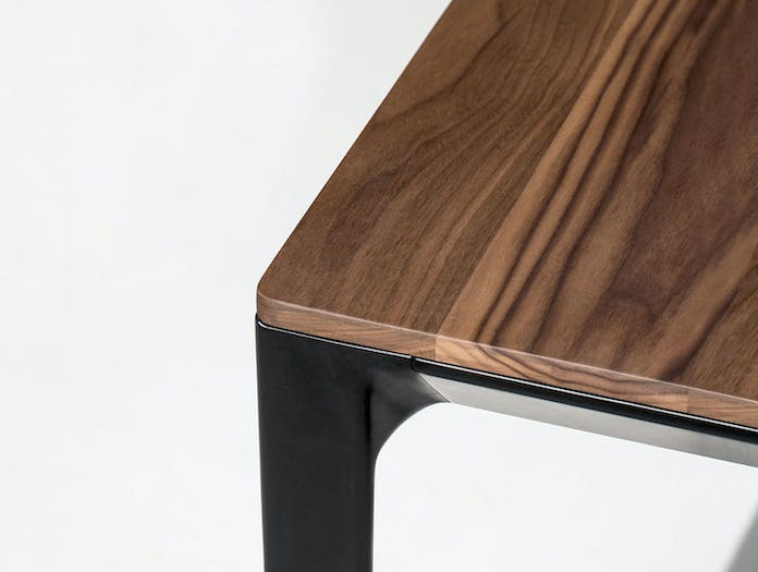 Bensen Able Walnut Table Corner