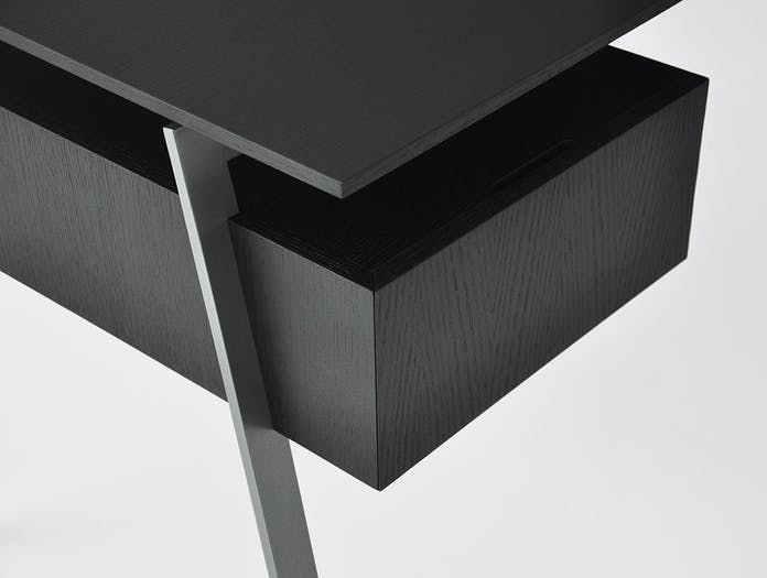 Bensen Homework Desk Wood Top Drawer Detail